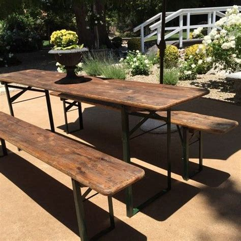 Vintage German Garden Beer Table over 7 feet long all