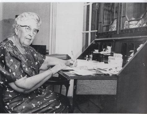 Agatha Christie at her writing desk | Famous People