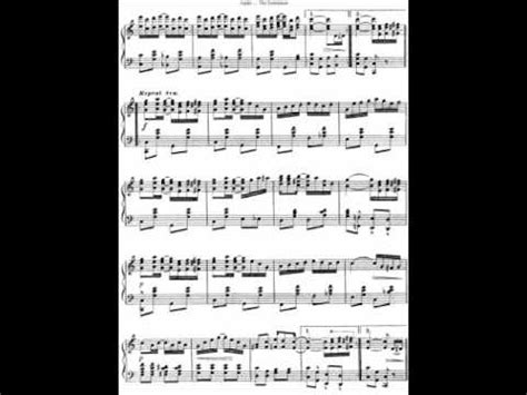 The Entertainer SHEET MUSIC SCOTT JOPLIN - YouTube