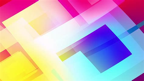 Slow Motion of Colourful Shapes, Stock Footage Video (100%