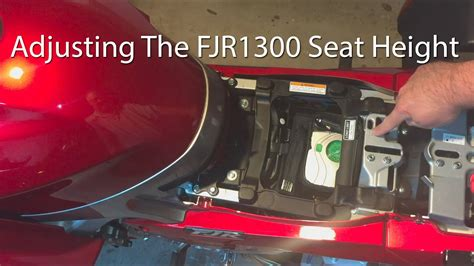 How To Adjust the Yamaha FJR1300 Seat Position - YouTube