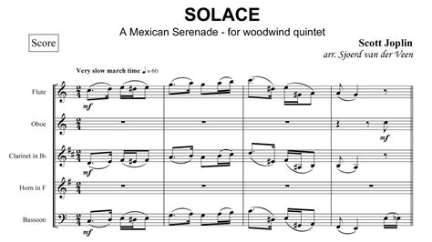 Scott Joplin - Solace, a Mexican Serenade - for wind