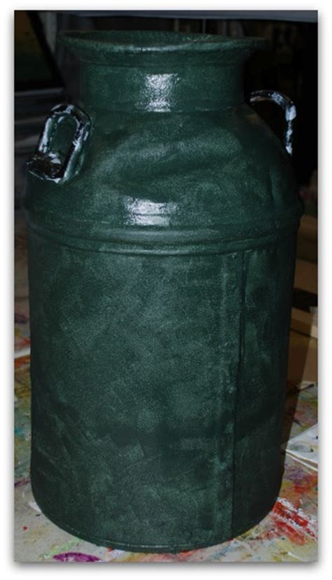 An antique milk can painting project from start to finish